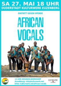 African Vocals aus Namibia live im Kulturwerk Euzenberg (Halle 16), 37115 Duderstadt – Samstag, 27. Mai 2017 um 18.00 Uhr – Der Eintritt ist frei