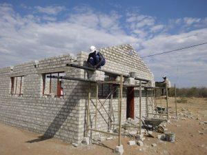 Schulprojekt in Namibia im Aufbau